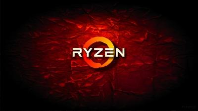 4K HD AMD Ryzen red crumple wallpaper background