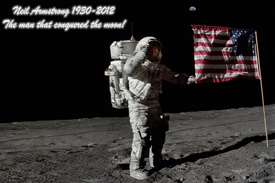 Neil Armstrong the man that conquered the moon.