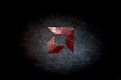 AMD Wallpapers - HD AMD Broken Glass scratched Steel wallpaper -