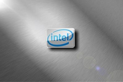 HD Intel brushed metal chrome wallpaper desktop background