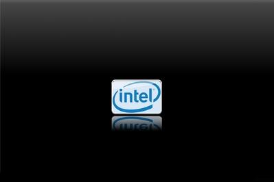 HD Intel wallpaper background mirror black