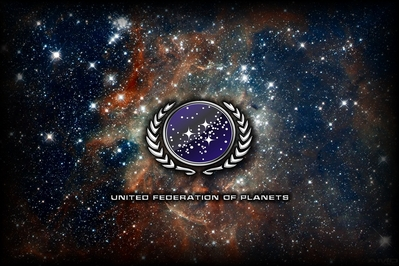HD Star Trek United Federation of Planets nebula wallpaper