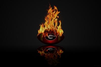 HD UGA On Fire Football Wallpaper