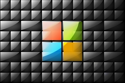 High def wallpaper featuring Microsoft's Windows 8 new logo