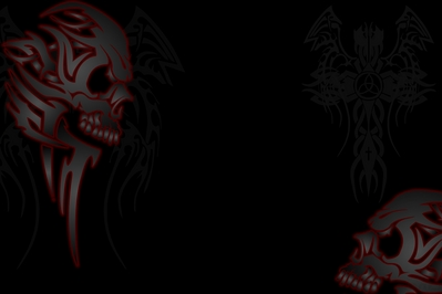 Wallpapers - HD Tribal Skull cross wings wallpaper -